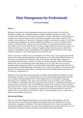 Time Management for Professionals.doc