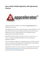 How to Build a Mobile Application with Appcelerator Titanium.pdf