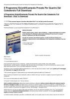 Il Programma Scientificamente Provato Per Guarire Dal Colesterolo Full Download-html.pdf