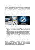 Wordpress Development Company Bangalore.pdf