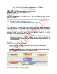 MCS-052 Solved Assignments 2014-15.pdf