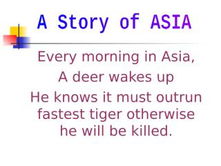 A Story of ASIA.ppt